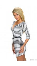 Striped tunic with belt IRINA