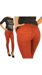 Women's pants crumpled jeans