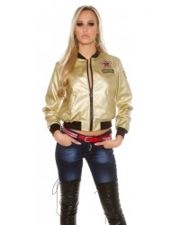 Jakna leatherlook GOLD