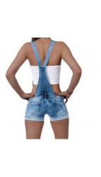 Women's short pants with suspenders